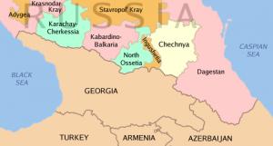 Чечня - карта