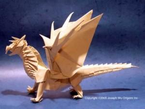 Дракон - оригами